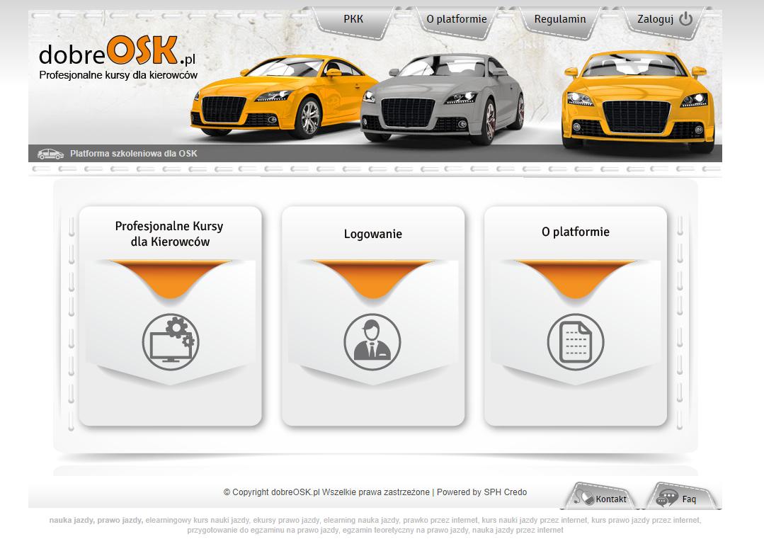 Moodle platform for driving school