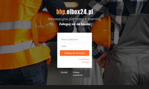 Platforma e-learningowa dla firm Panel logowania