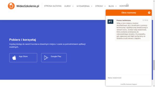 Platforma e-learningowa dla firm szkoleniowych - zgłaszanie błędów