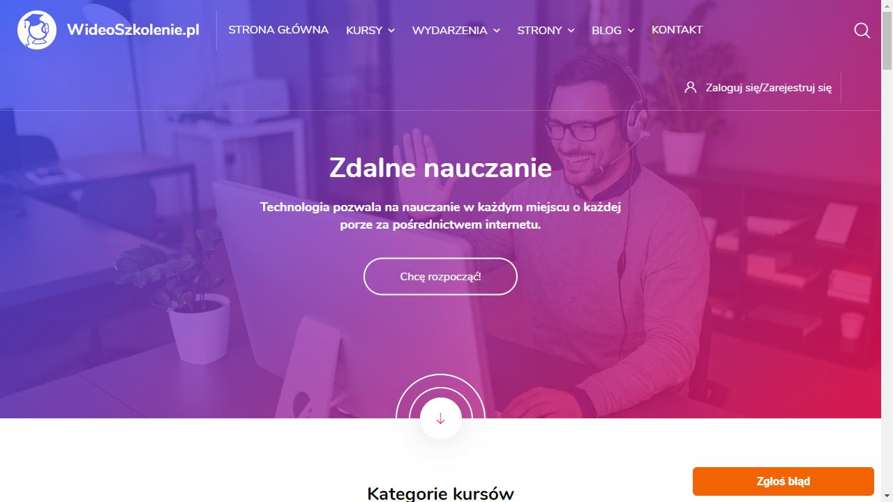 Platforma dla firm szkoleniowych wideoszkolenie.pl/platforma