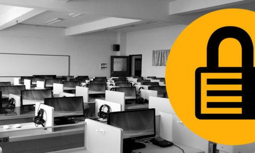 Bezpieczne egzaminy online w sali komputerowej